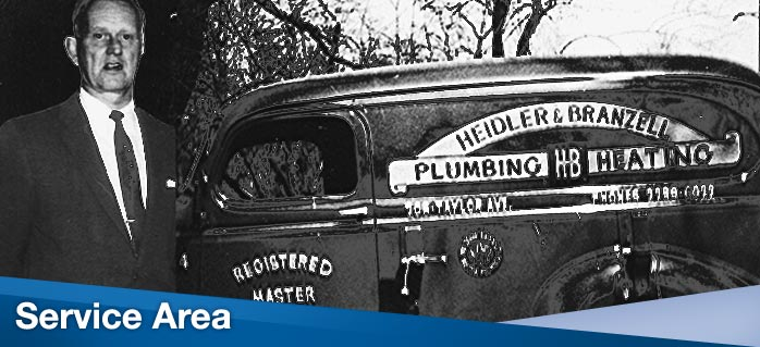 Heidler Plumbing and Heating Service Area